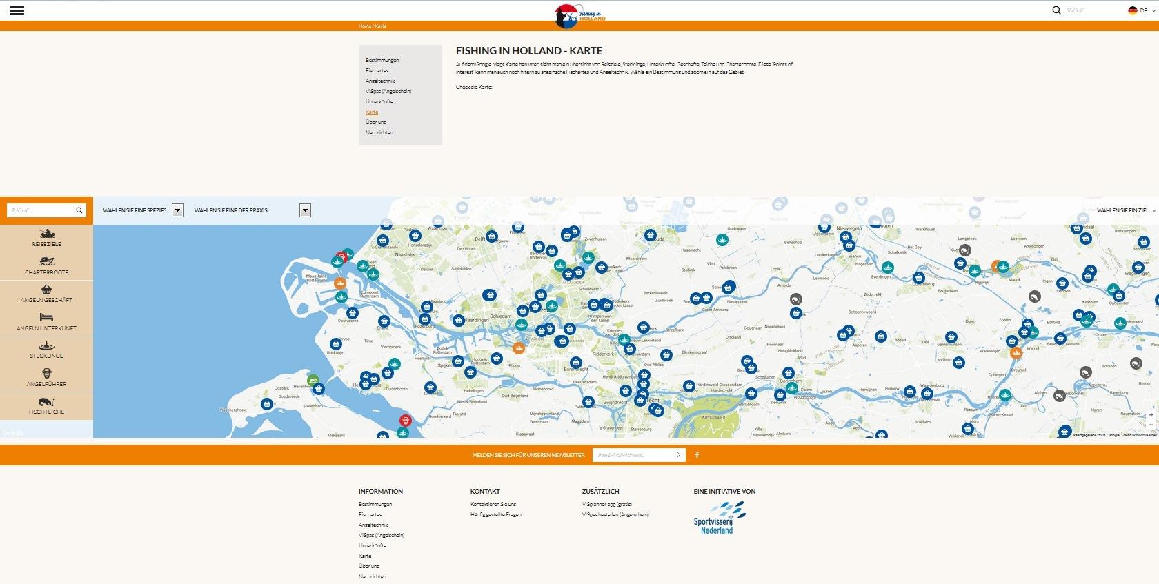 Karte Nordseeküste Holland.Angeln In Holland Fisch Und Fang