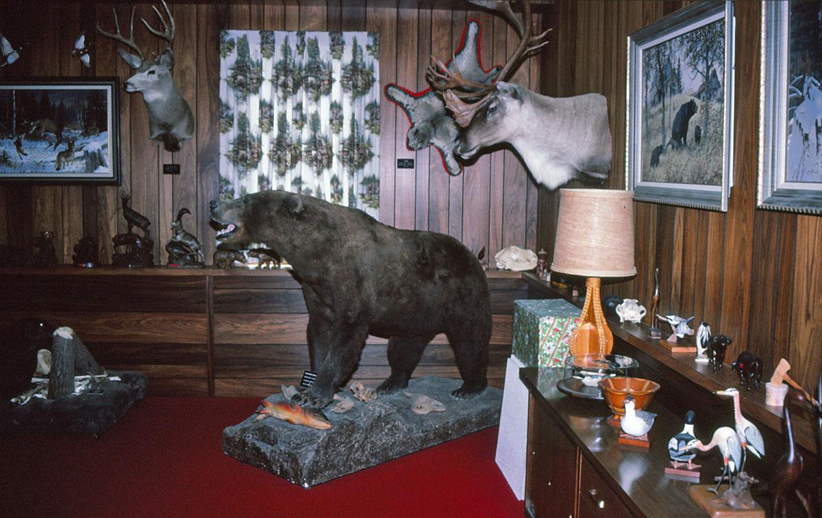 Das Büro von Mepps-Chef Todd Sheldon sah aus wie ein naturhistorisches Museum.