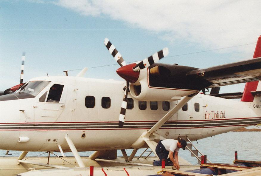 Von Yellowknife aus ging es mit der Fluggesellschaft Air Tindi zum Taltson River.