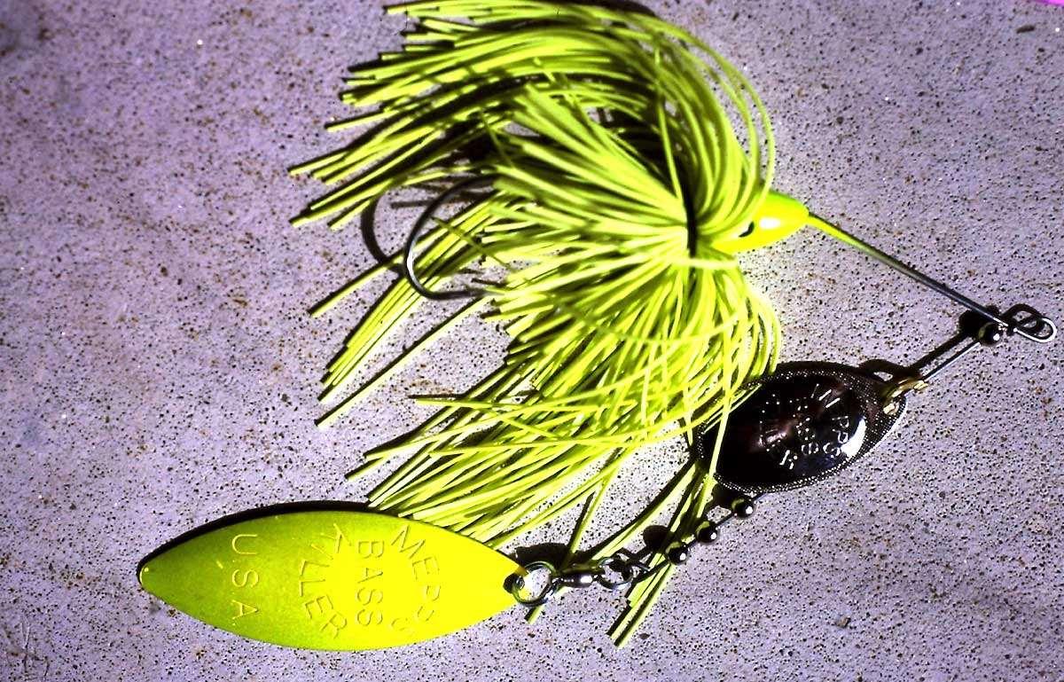 Der Bass Killer von Mepps, eher was für den Weihnachtsbaum? Jan Eggers sah damals zum ersten Mal einen Spinnerbait.