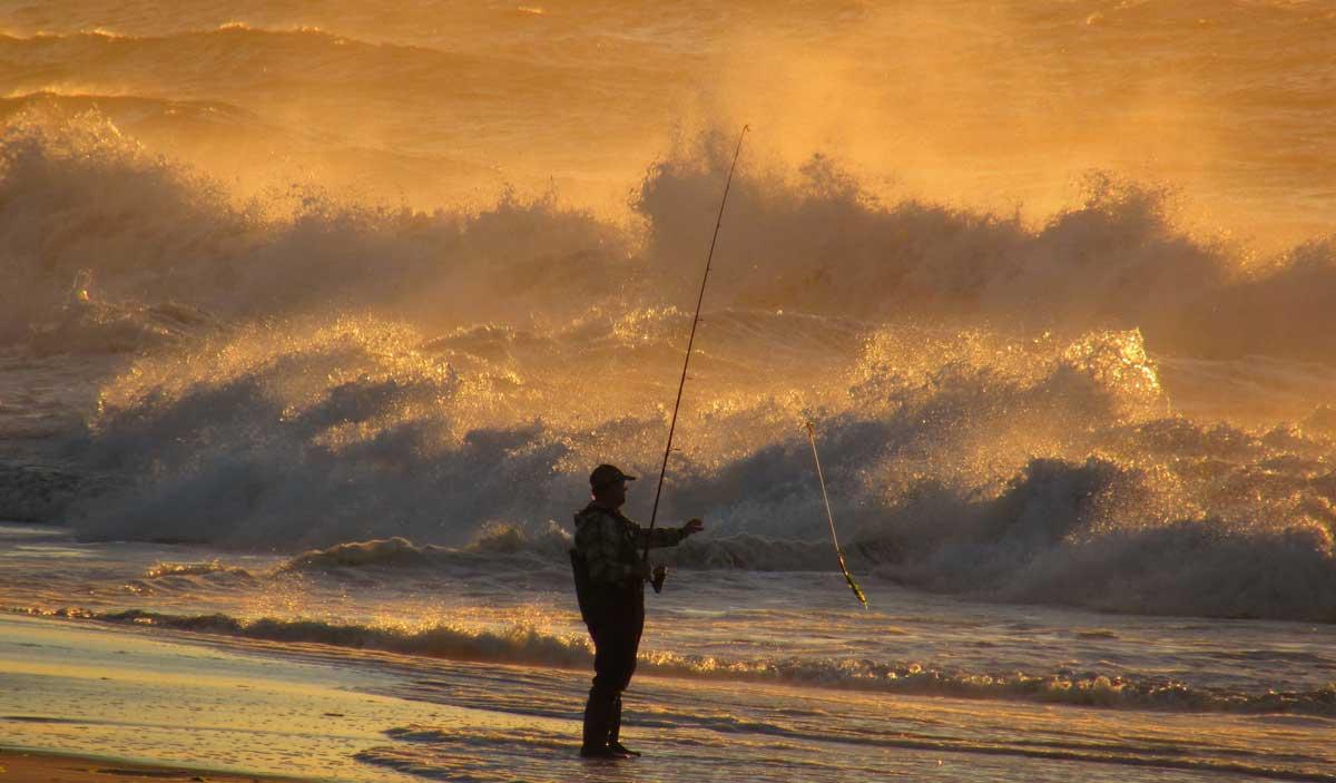 Brandungsangeln kann in dem Surfer-Paradies wörtlich genommen werden. Bild: Paul Peluso/Discover Long Island