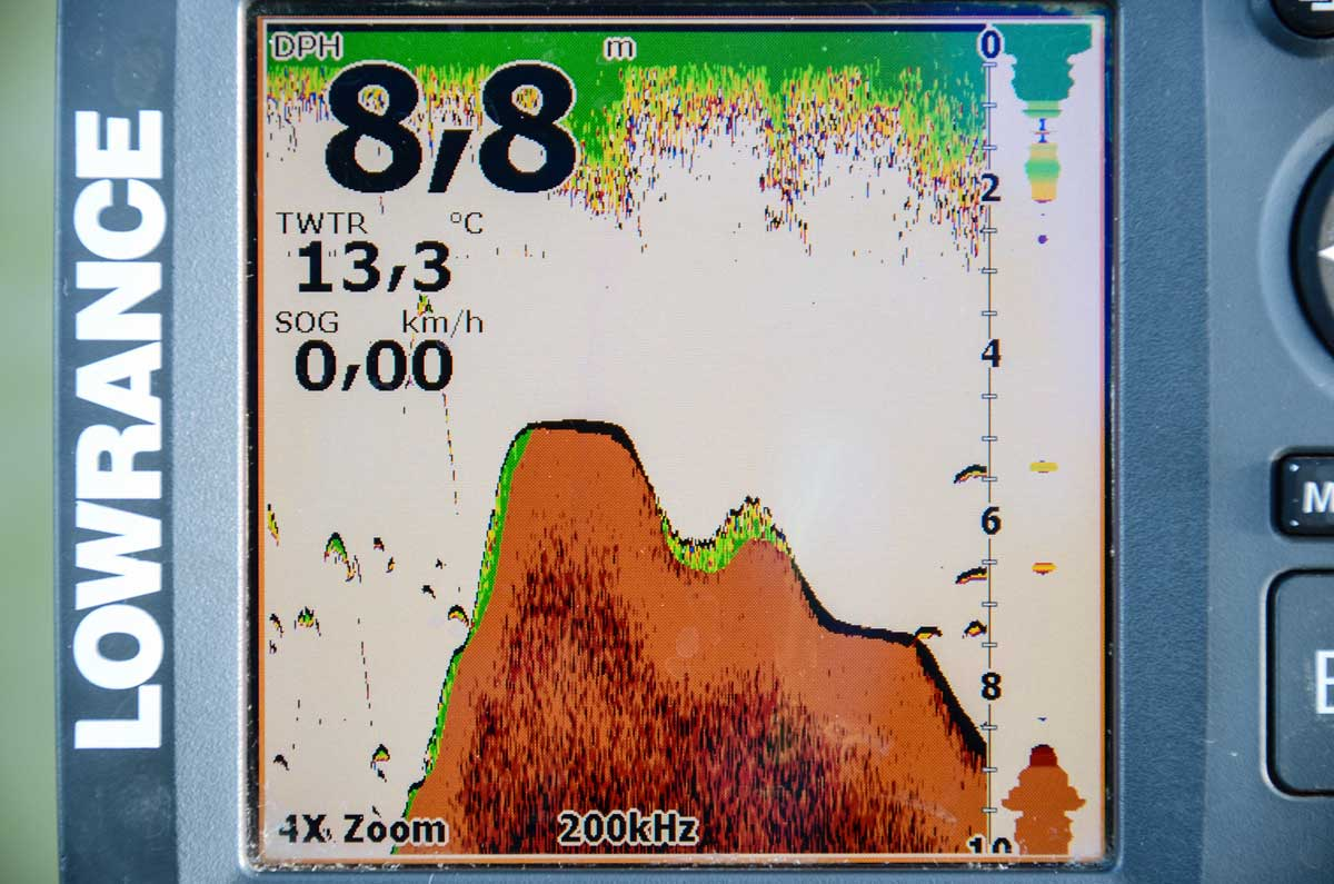 So einen Barschberg sollte man immer befischen, auch wenn aktuell keine Sicheln auf dem Top zu sehen sind.