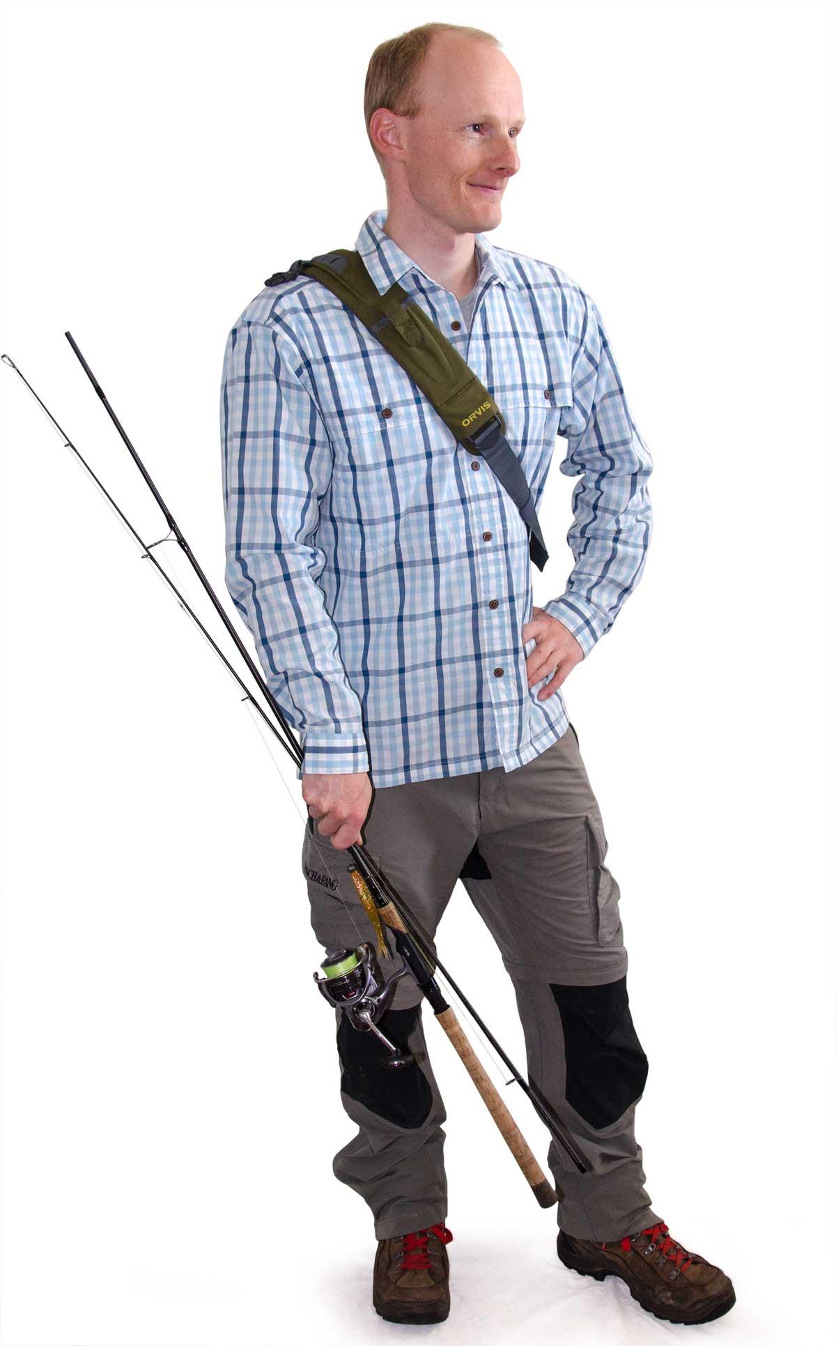 Eine Rute und eine Tasche mit Kleinteilen, viel mehr braucht Birger für den Saisonstart auf Zander nicht.