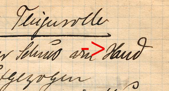 Und das H im Original.