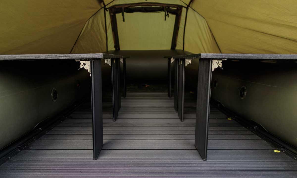 Maximaler Stauraum unter dem Bettensystem.