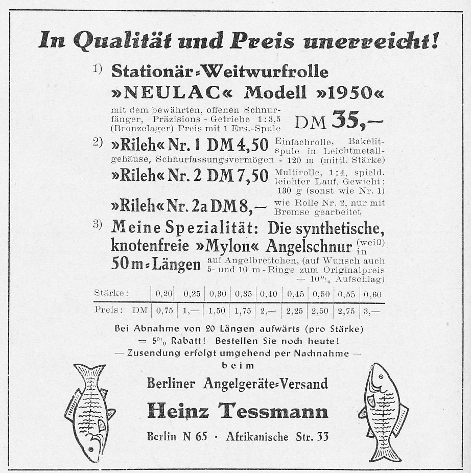 """Aus der """"Fischwaid"""" 08/1949."""