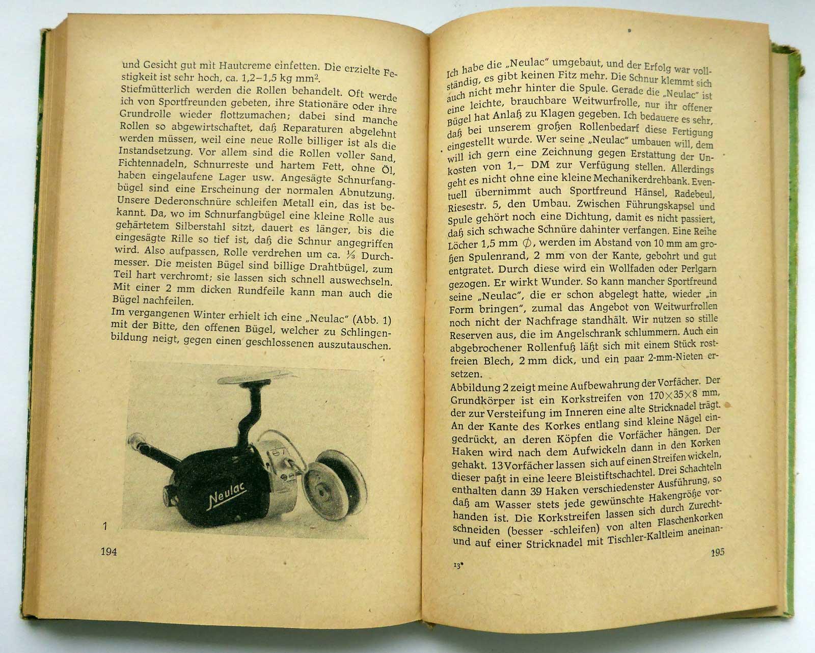 """Aus dem Jahrbuch des Anglers (DDR- Anglerkalender) von 1963. Rudolf Schröpfer, """"Nutzen für alle aus der Bastlerecke"""", S. 193ff."""