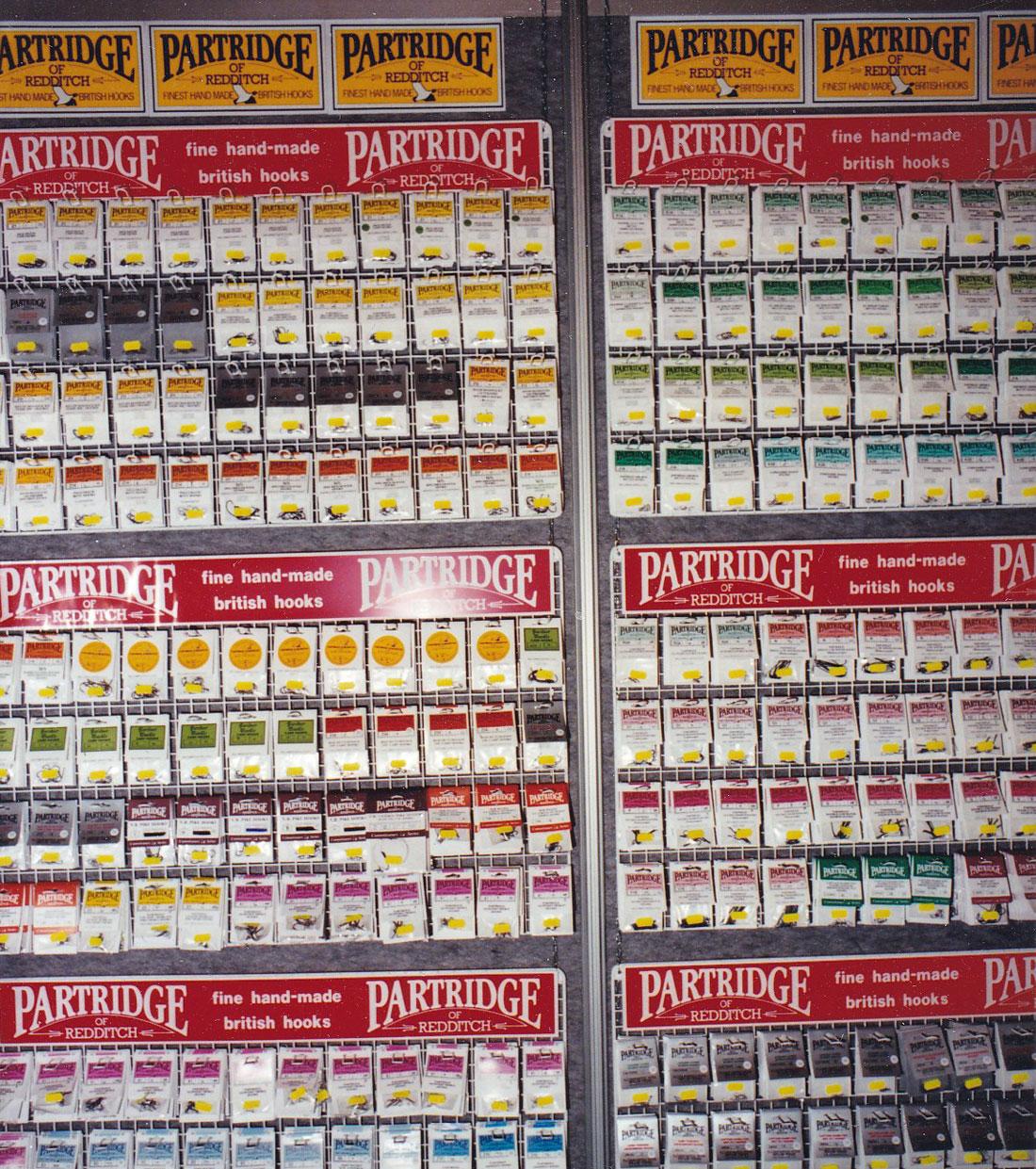 Partridge führte damals ein riesiges Hakensortiment.