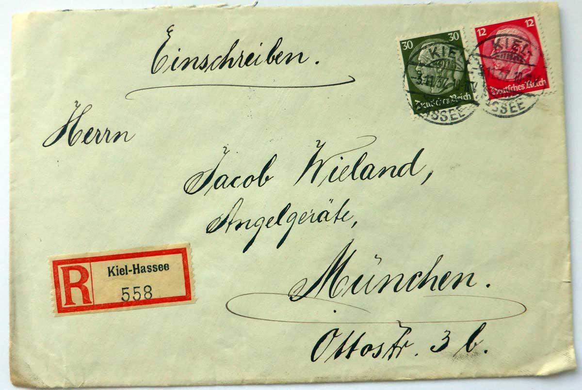Ein besonders dekoratives Kuvert.