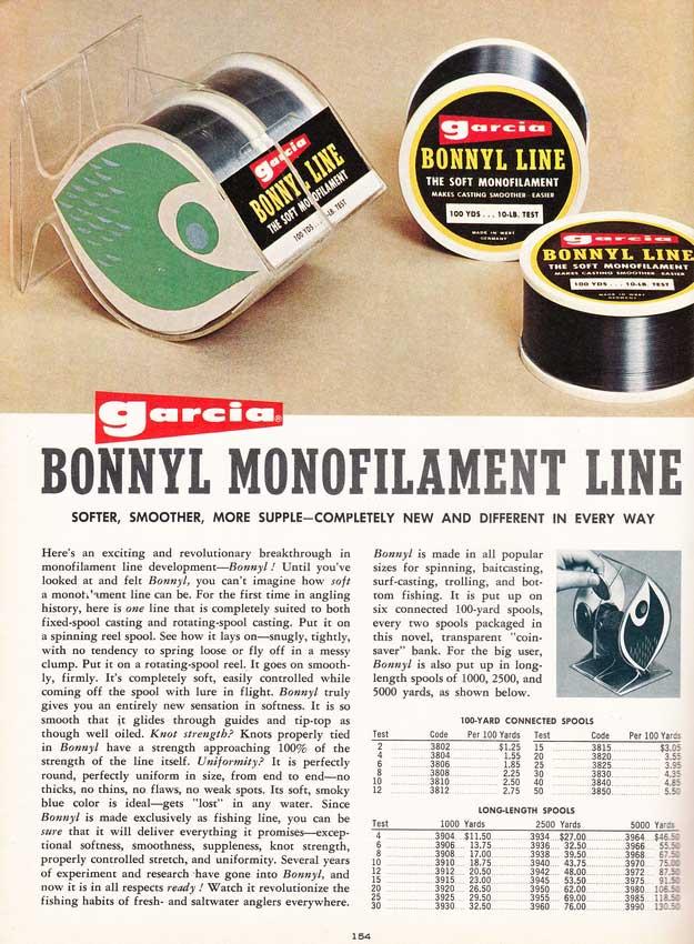 Aus dem amerikanischen Garcia-Katalog von 1966 - Bonnyl taucht zu allerersten Mal auf. Bilder: John Fishkat