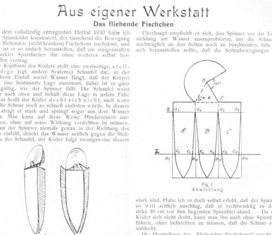 """Aus """"Der Sportfischer"""", Mai 1931."""
