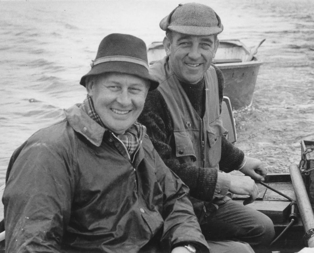 Fred Buller (rechts) und Richard Walker waren gute Freunde, beide konnte Jan Eggers in England treffen.