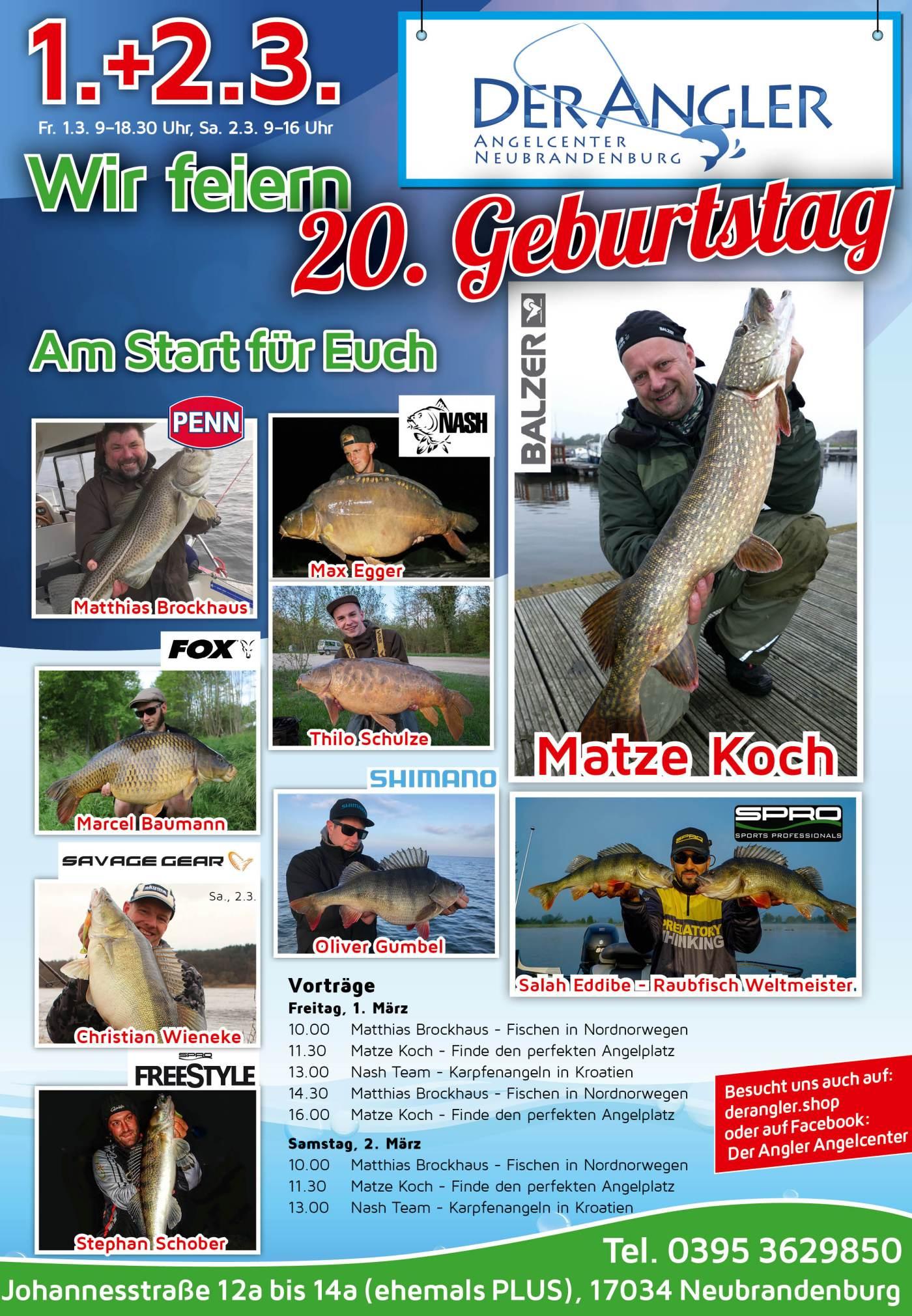 20 Jahre Der Angler Fisch Und Fang