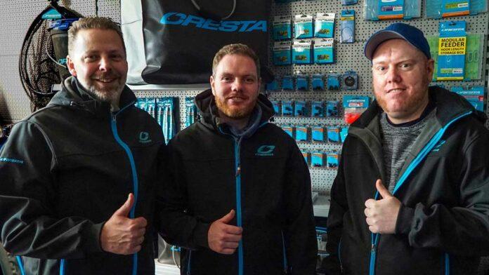 Die Brüder Miles (Mitte) und Kevin Paradowski (rechts) unterstützen zukünftig das Deutschland-Team von Cresta.