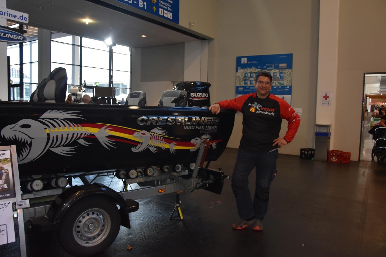Christian Willam und sein neues Boot.