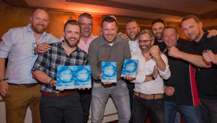 Mit vier Awards die EFTTEX gerockt: das Pure Fishing-Team um Ralph Dijk (Mitte).
