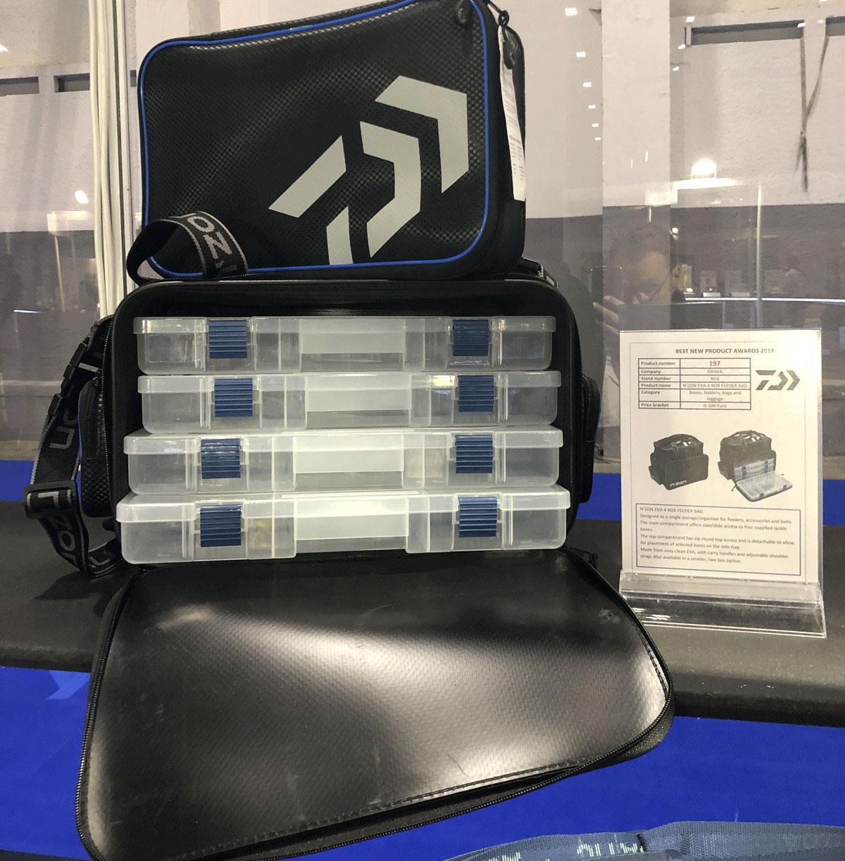 Beste Tasche: Daiwa legte eine komplette neue Feederrange auf und gewann gleich mit dem N'ZON EVA 4 Box Feeder Bag den begehrten Award.