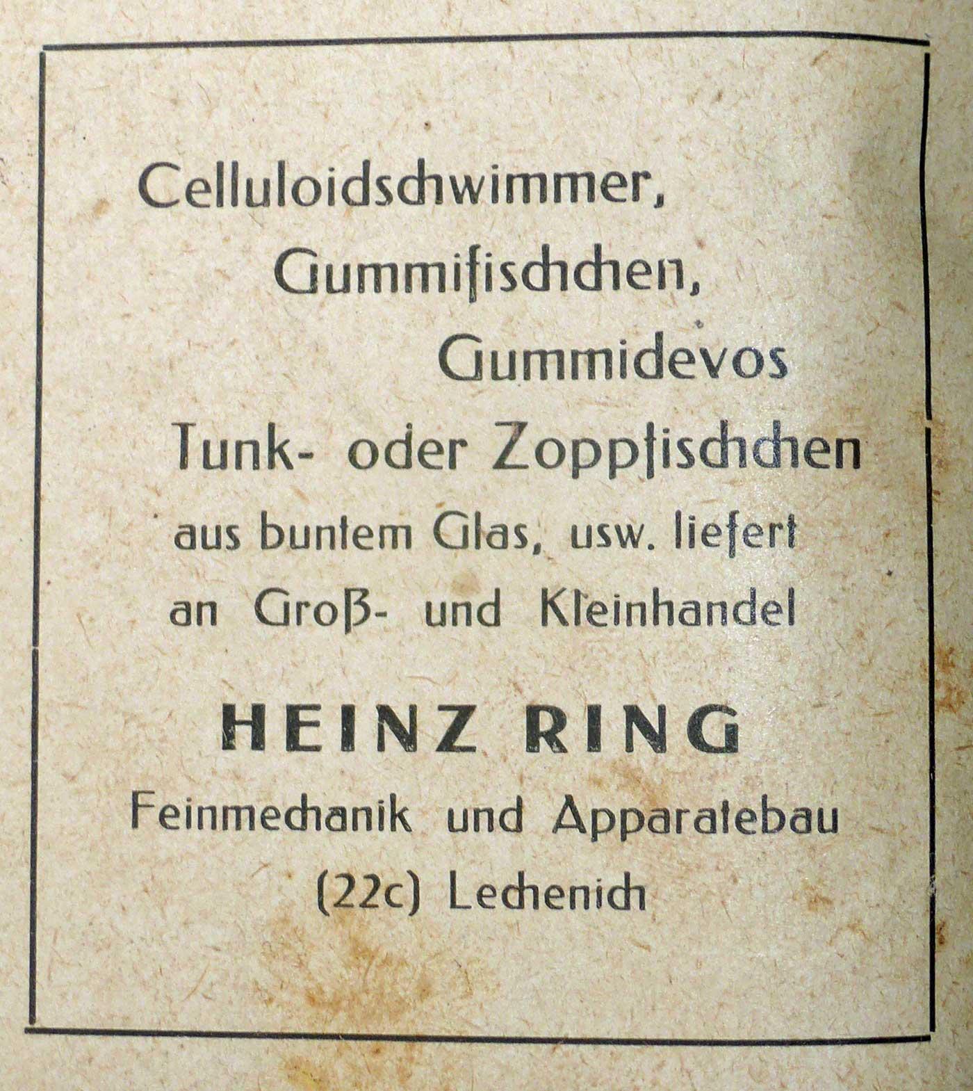 Heinz Ring, Lechenich